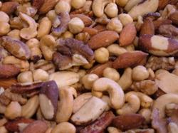 Gemengde noten gezouten